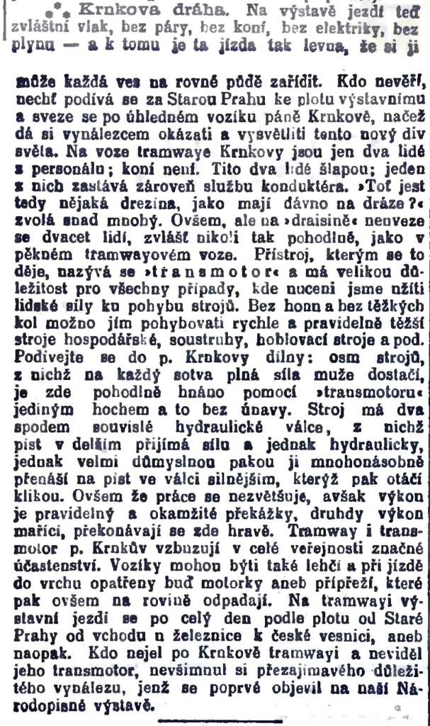 Národní listy 2. 8. 1895, strana 5. a 6. (pořízeno ze systému Kramerius NK)