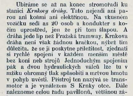 Průvodce Národopisnou výstavou Českoslovanskou, úryvek ze str. 74