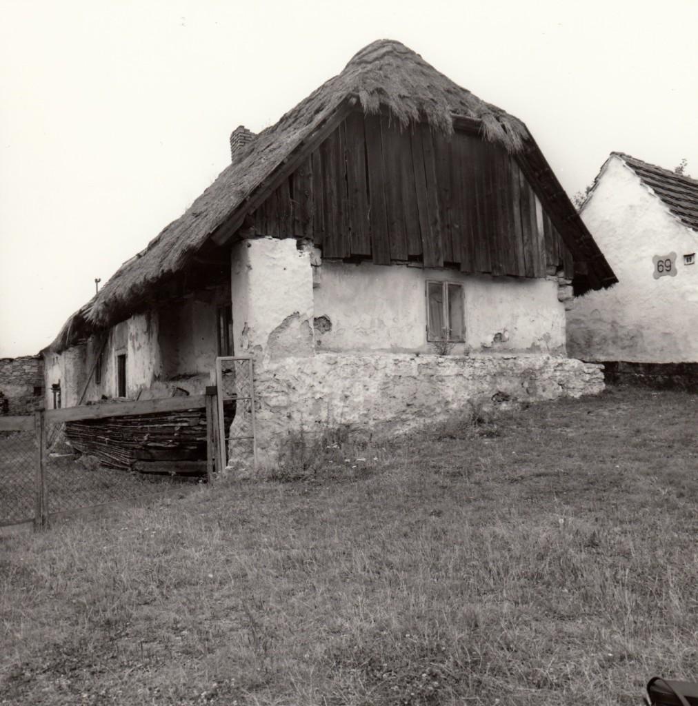 Původní dům č. p. 70 ve Velkém Boru, fotografie z 80. let 20. století.