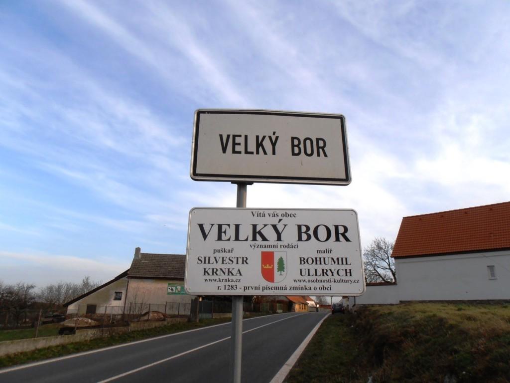 Doplňková informační tabule obce Velký Bor